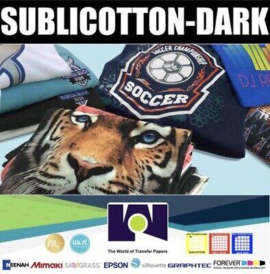 "SUBLICOTTON-DARK HEAT TRANSFER PAPER 10 Sh 8.5/""X11/"""