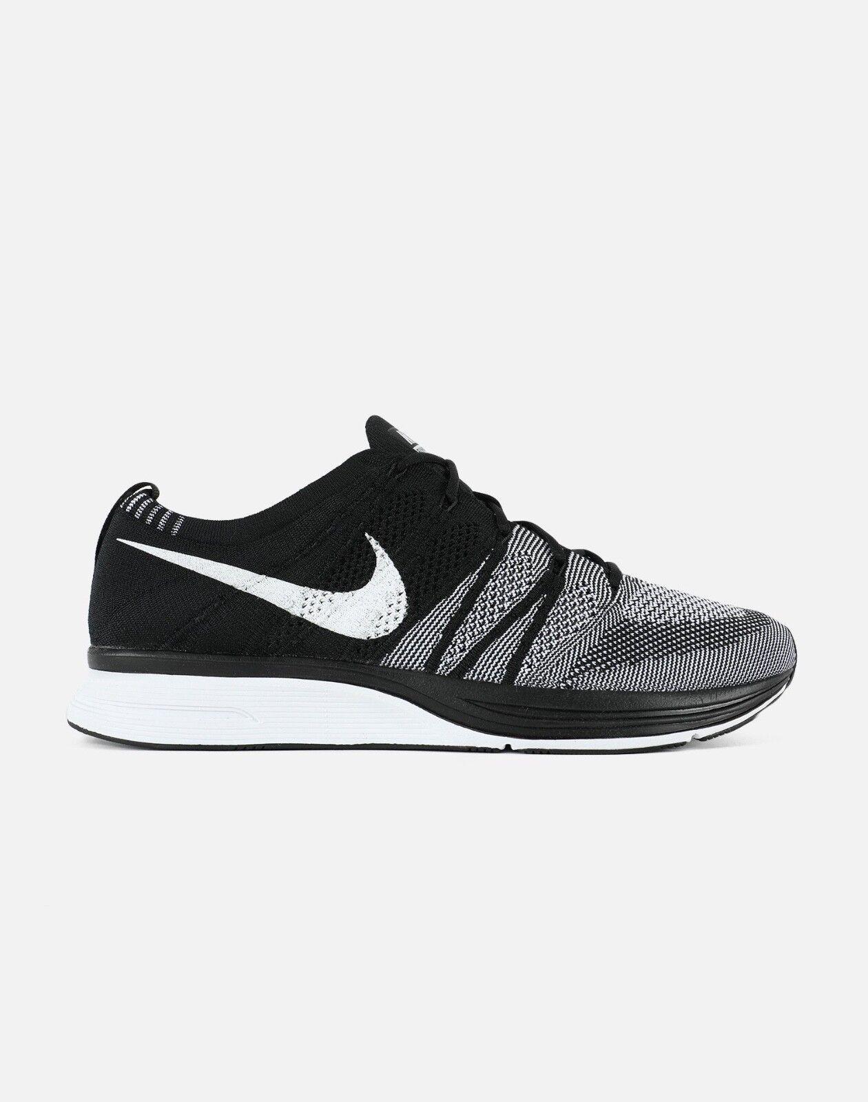 2018 Nike Flyknit Trainer Black White Oreo AH8396-005 size 8-13