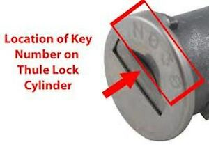 Ski &amp; Roof Rack Keys,Roof Box Keys-Cut To Code Number-Thule,R<wbr/>ola,-FREE POSTAGE
