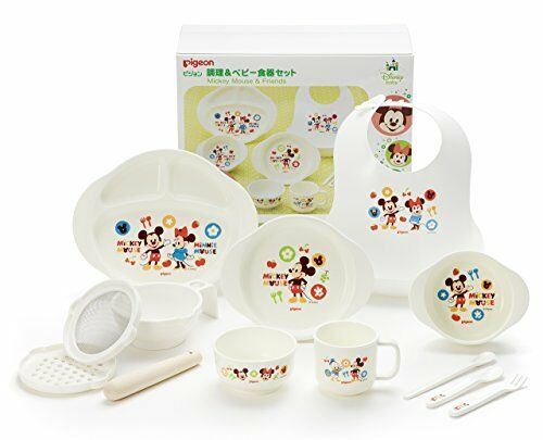 Baby Feeding Sets Disney Mickey Mouse Icon Baby Tableware Dishes Set New Japan