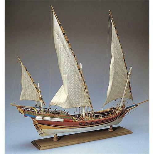 Amati Xebec Ship Kit 1753 Wooden Model Kit - Museum Quality Display Piece