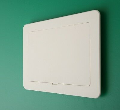 Access Panel 200 x 275mm Off White Inspection Hatch Hinged Detachable Door