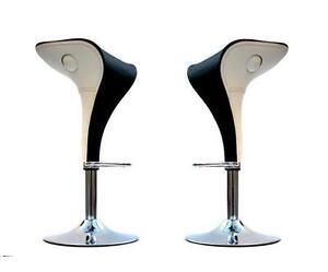 Coppia sgabelli moderni design abs sedie cucina ristorante bicolore