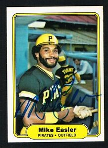 Mike-Easler-481-signed-autograph-auto-1982-Fleer-Baseball-Trading-Card