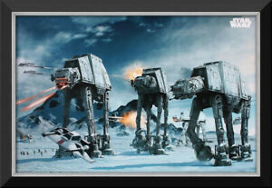 Battle Of Hoth - Star Wars Ep V The Empire Strikes Back - Framed Canvas