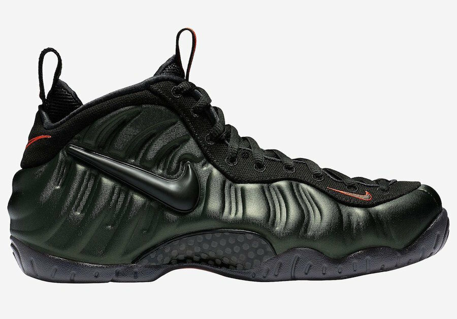 Nike air foamposite pro sequoia 624041-304 nero team orange uomini scarpe nuove