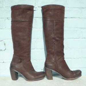 Bertie-Leather-Boots-Size-Uk-6-Eur-39-Sexy-Womens-Ladies-Pull-on-Brown-Boots