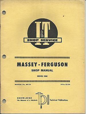 MASSEY FERGUSON I/&T IT MANUAL 1080 TRACTOR MF-28