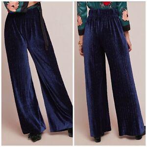 Anthropologie-The-Odells-Velvet-Wide-Leg-Pants-Woman-Size-XS-New-174