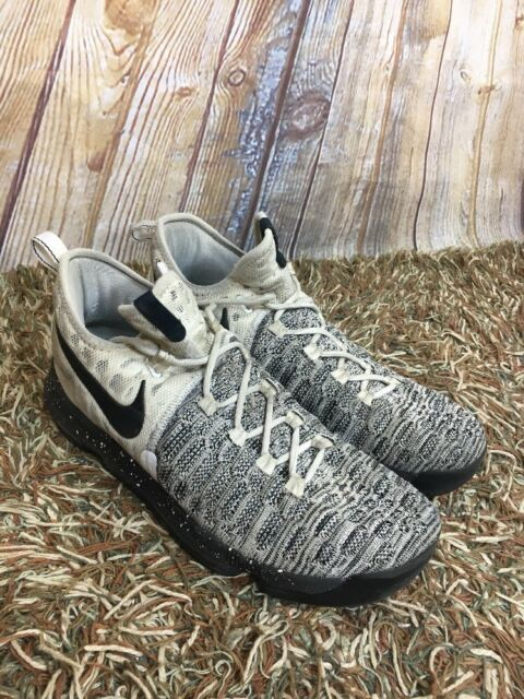 4bb6eeec3063 Nike Zoom KD Kevin Durant 9 White Black Flyknit Oreo 843392-100 Men s Size  11