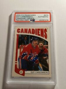 2004-ITG-Franchises-Guy-Carbonneau-PSA-DNA-authenticated-Auto-Canadiens-MINT
