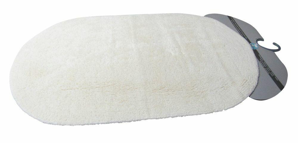 Batex Badteppich Duo cotton natur oval 55x85cm     Badematte Badezimmerteppich B
