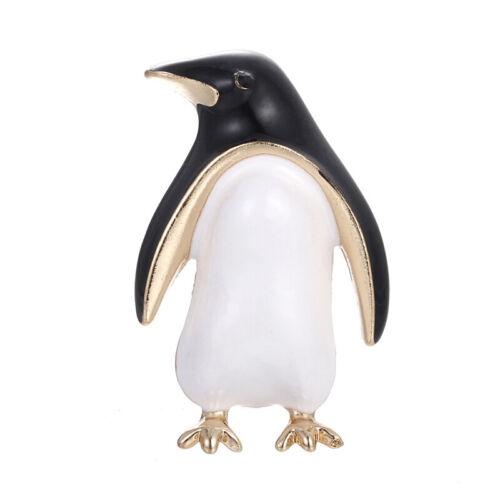 Cartoon Enamel Penguin Animal Lapel Collar Brooch Pin Bouquet Women JewelryYNFNJ