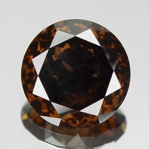 0-73-Carat-6-15x2-77mm-NATURAL-COGNAC-BROWN-DIAMOND-LOOSE-for-Setting-Round-Cut