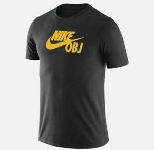 wholesale dealer 4f873 3c59c Details about NIKE SF OBJ SHIRT BLK/YEL SZ 2XL AT8569-010 GIANTS NEW Odell  Beckham Jr. AF1 QS