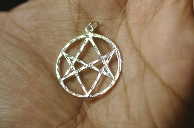 Celtic Unicursal Hexagram Sterling Silver 925 charm pentagram 5 Elements Jewelry