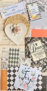 Junk-Journal-Kit-0ver-75-Items-Vintage-Book-Pages-Scrapbooking-Paper-Quotes