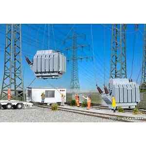 KIBRI-39844-1-87-HO-MAQUETTE-TRANSFORMATEUR-ELECTRIQUE-2-PIECES-HO