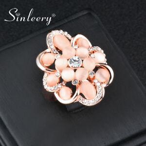 Gorgeous-Hollow-Big-Flower-Beige-Opal-Rhinestone-Rings-Wedding-Fashion-Jewelry