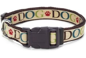 Douglas-Paquette-COACH-DOG-Nylon-amp-Ribbon-Adjustable-Dog-Collar-Harness