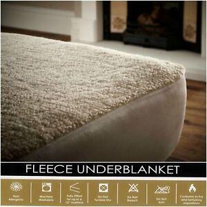 Mattress Protector Cover Fit Fleece Bed Queen