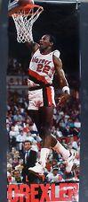 RARE CLYDE DREXLER TRAILBLAZERS 1989 VINTAGE ORIG DOOR SIZE NBA COSTACOS POSTER