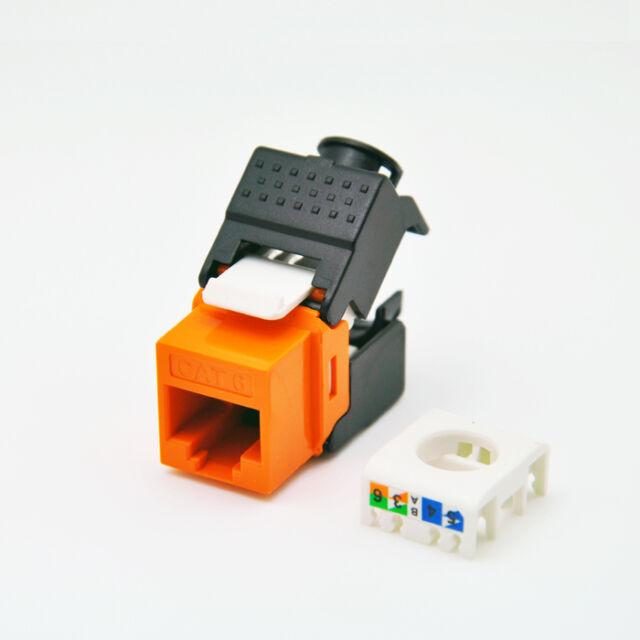 (12pcs/pack) Gigabit RJ45 CAT6 Keystone Jack toolfree connection