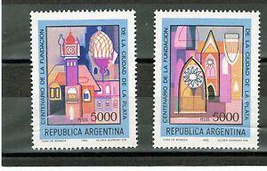 (1982) Gj.2065-6. 100 Ans De La Plata. Neuf Sans Charnière. Excellent état.-afficher Le Titre D'origine