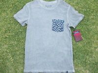 Gray short sleeve pocket T shirt Gray Cheetah Print Pocket T shirt  S-2X