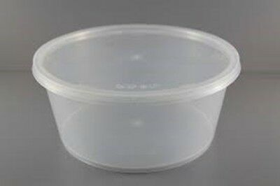 100 pieces 10oz / 285ml / T10 round rontainer with lids (50 pairs)