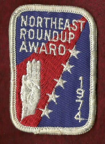 1974 RECRUITMENT PATCH VINTAGE  BOY SCOUT NORTHEAST ROUNDUP AWARD
