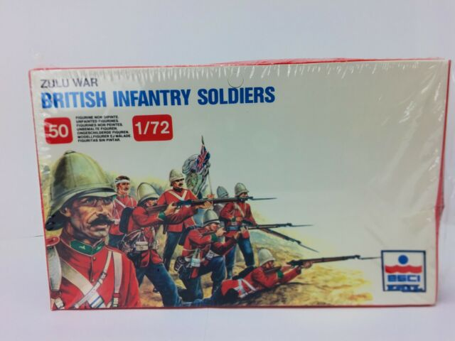 Zulu War British Infantry Soldiers ESCI ERTL 1/72 Scale # 212 Factory Sealed