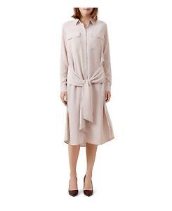 Rrp tailles en poudrée Robe Hobbs rose soie £ 189 Lucy Différentes 84ngnqA0