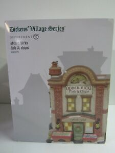 Dept-56-Dickens-Village-Odin-R-Hicks-Fish-amp-Chips-6003072-New-MIP