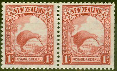 Briefmarken Clever Neuseeland 1936 1d Scharlachrot Sg578var Extra Haare Auf Kiwi In Fein Mnh Paar Bequemes GefüHl