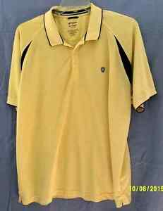 CHAPS-Mens-XXL-GOLF-Yellow-Black-Polyester-STAY-DRY-Short-Sleeve-CA00213-INDIA