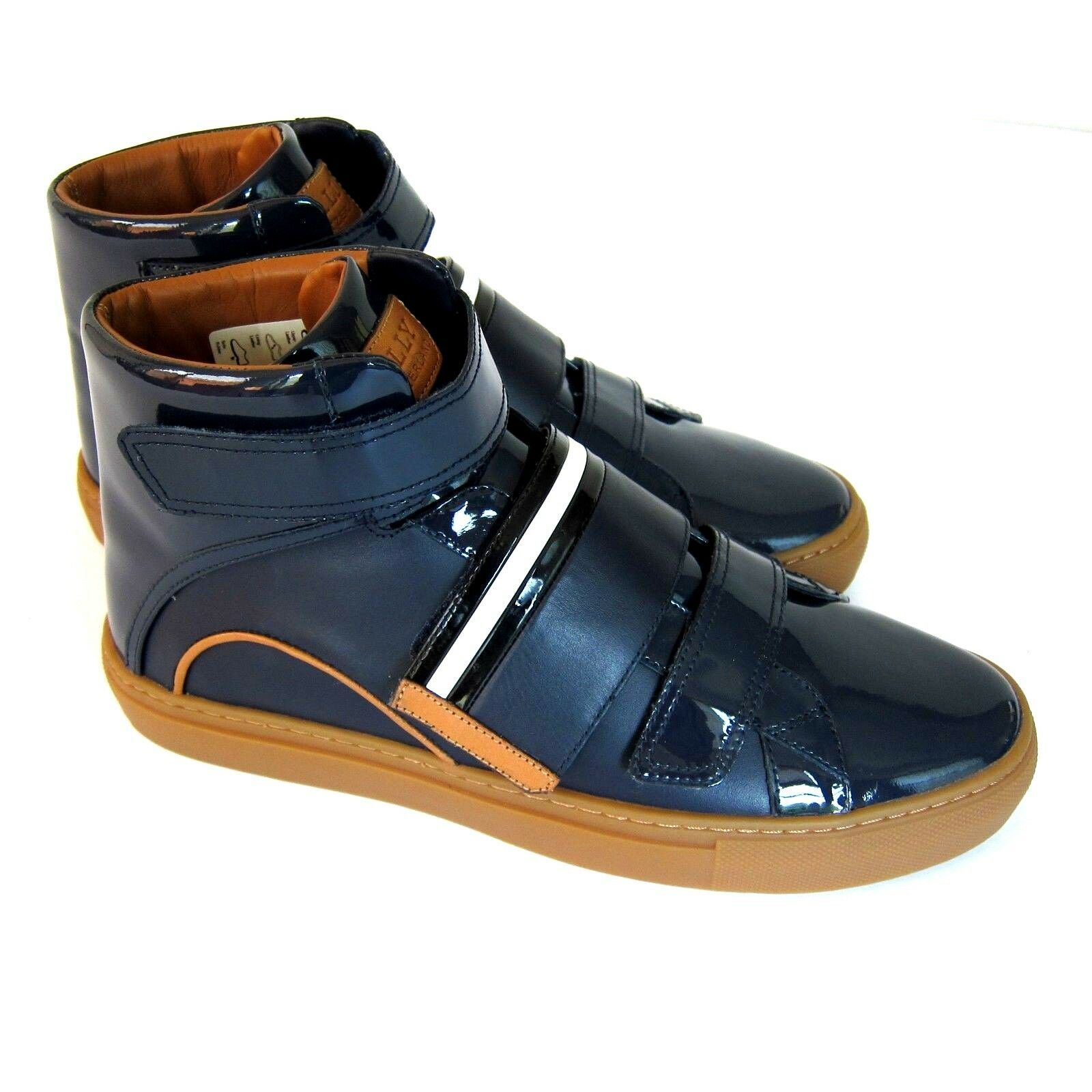 J-3481200 New Bally Herick Leather bluee Sneakers shoes Size US 8 Marked 7