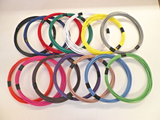 20 TXL 7 STRIPED COLORS 10 FEET EACH 70 FEET TOTAL HIGH TEMP AUTOMOTIVE WIRE
