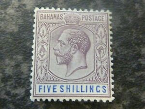 BAHAMAS-POSTAGE-STAMP-SG88-FIVE-SHILLINGS-DULL-PURPLE-amp-BLUE-VLMM