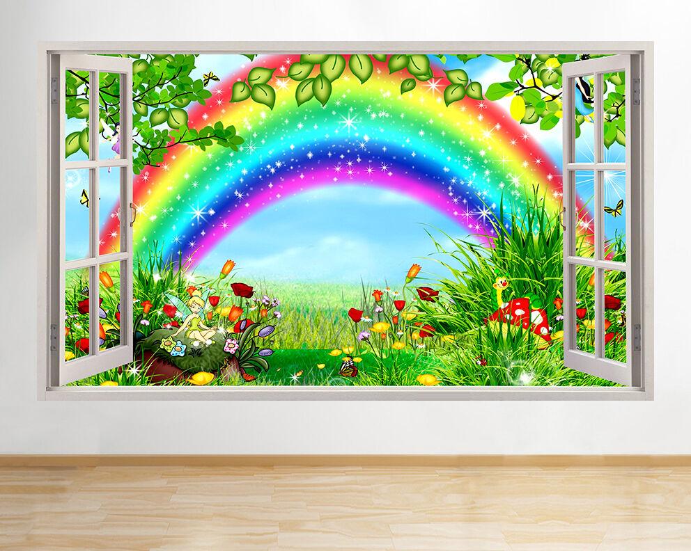 R879 ARCOBALENO MAGICO Fairies Kids finestra decalcomania della parete 3D art adesivi in vinile SALA