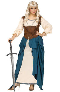 Stock photo  sc 1 st  eBay & Adult Viking Queen Renaissance Wench Medieval Costume Plus Size 1x ...