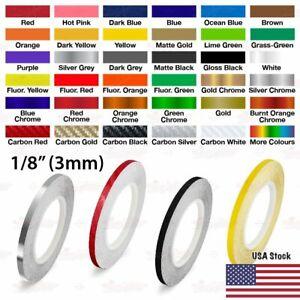 "3mm 1//8/"" PinStriping Pin Stripe Tape SOLID Line Decor Decal Vinyl Sticker BLUE"