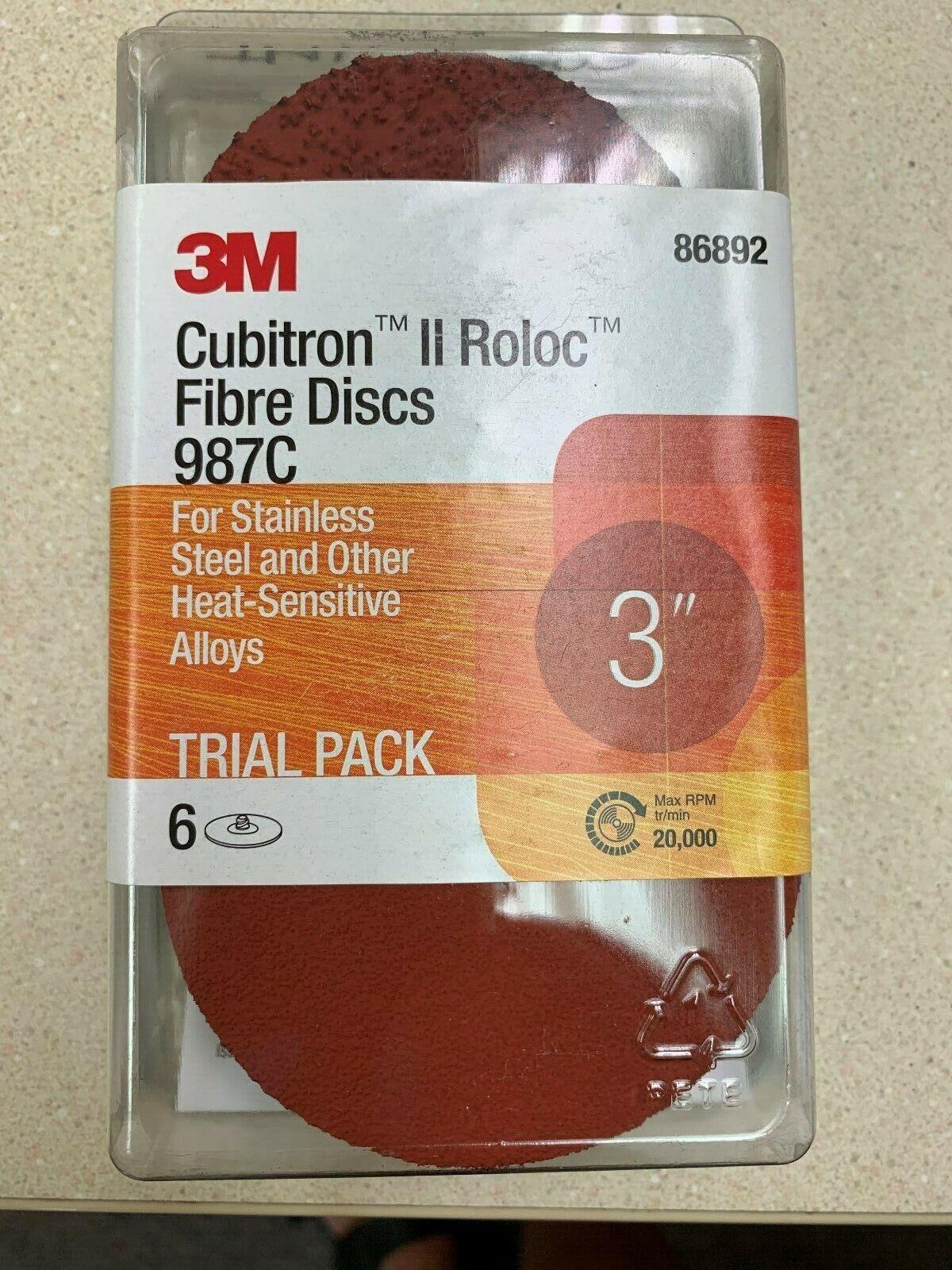 3M Cubitron II Roloc Fiber Disc Trial Pack TR 987C 1 Trial Pack 3 in