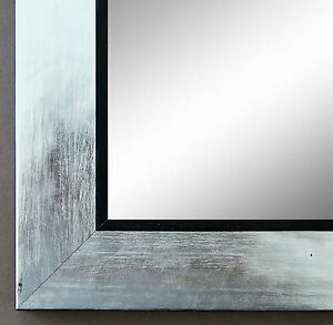 spiegel wandspiegel badspiegel flur garderobe modern lecce silber schwarz 3 9 ebay. Black Bedroom Furniture Sets. Home Design Ideas