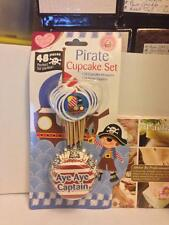 Queen of Cakes Pirate Cupcake Set Wrappers + Topper Flags 48 Pieces