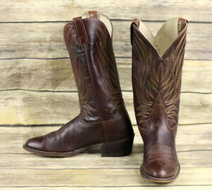 Acme-Cowboy-Boots-Brown-Leather-Mens-Size-10-B-Narrow-Western-Classic-Rockabilly