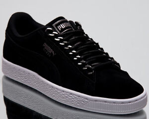 85b3a315322 Puma Wmns Suede Classic x Chain Women New Black Lifestyle Sneakers ...
