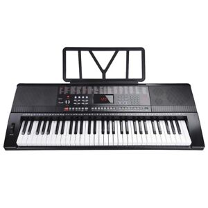 PRE-SALE Electronic Keyboard Piano 61 Key W/Music Stand Microphone ForKids/Adult