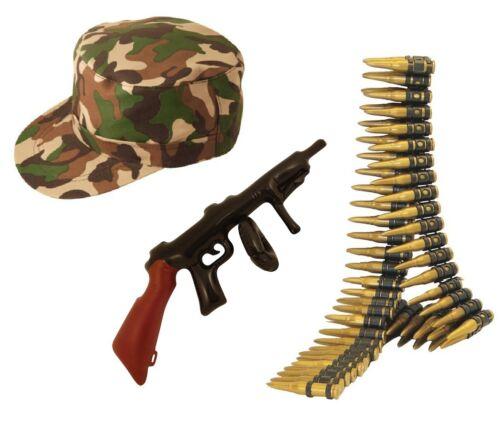 ARMY SOLDIER FANCY DRESS COSTUME ACCESSORY SET Adult Kids Boys Ladies Man Kit UK