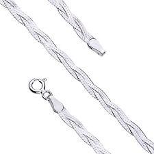 """Solido Argento Sterling 925 intrecciato serpente collana catena, 18 """" (45 cm): 2,9 mm di larghezza"""